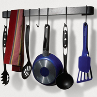 Enclume MPU-13 Review: Rack It Up Utensil Bar Pot Rack with 8 Hooks