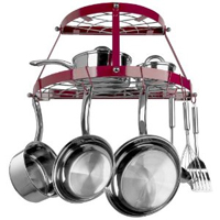 Range Kleen CW6003 Review: 2-Shelf Wall-Mounted Red Pot Rack
