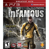 inFAMOUS PS3 Exclusive Title Cover