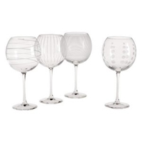 Mikasa SW910-400 Review: Set of 4 Etched Cheers Balloon Wine Goblets