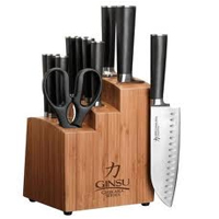 Ginsu 7112 Review: Chikara 12-Piece Stainless Steel Knife Set with Bamboo Block