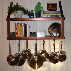 Wall Hanging Pot Rack should i get a hanging, wall-mounted, or freestanding pot rack